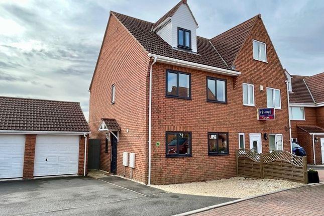 Thumbnail Semi-detached house for sale in Lakeside, Bridgwater Road, Highbridge, Somerset.