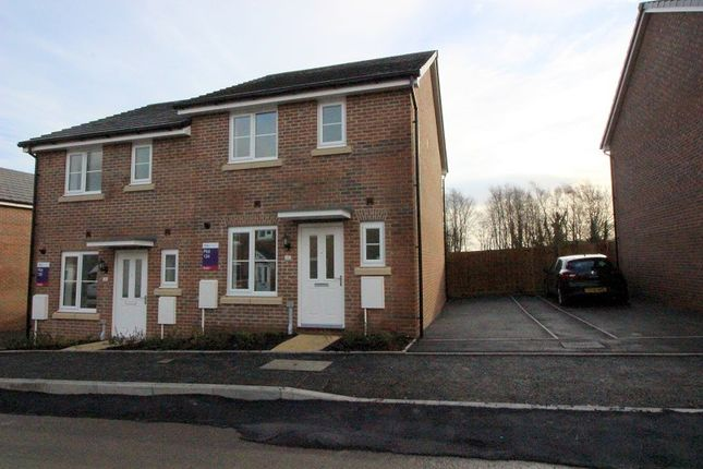 Thumbnail Semi-detached house to rent in Clos Meredith, Brackla, Bridgend.