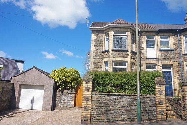 Thumbnail Semi-detached house for sale in Bedwlwyn Road, Ystrad Mynach, Hengoed