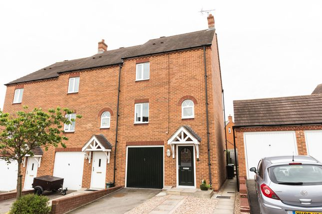 Thumbnail End terrace house for sale in Whitney Close, Raunds, Wellingborough