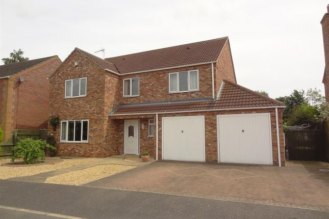 Thumbnail Detached house for sale in The Sidings, Ruskington, Sleaford