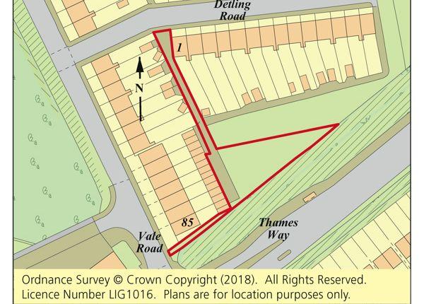 Thumbnail Land for sale in Land Rear Of Detling Road, Northfleet, Gravesend, Kent