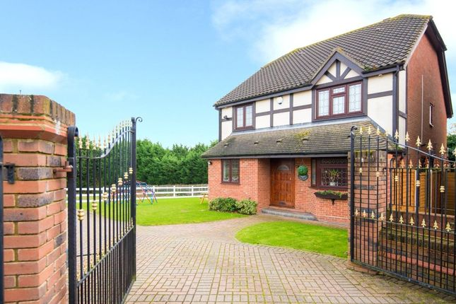 Thumbnail Detached house for sale in Castle Close, Noak Hill, Essex