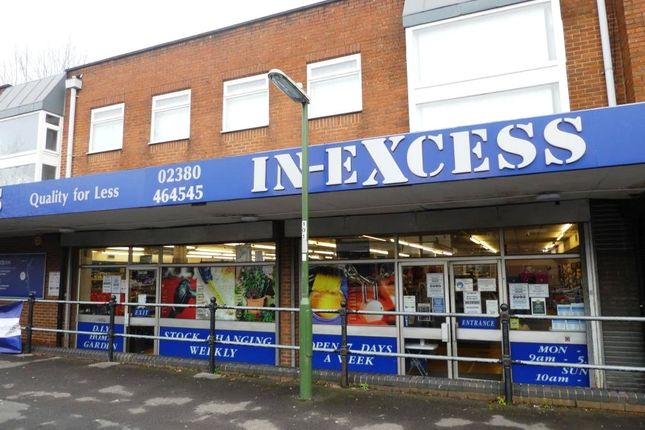Retail premises to let in High Street, West End, Southampton