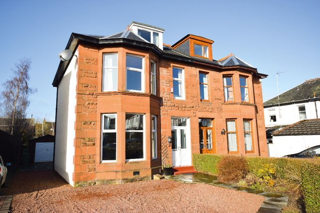 Thumbnail Semi-detached house for sale in Rosslea Drive, Giffnock, Glasgow