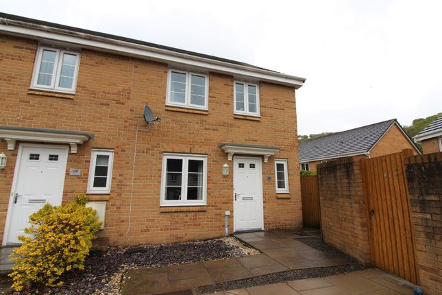Thumbnail End terrace house for sale in Mill-Race, Abercarn, Newport