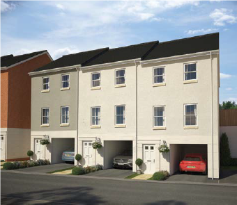 2 bedroom end terrace house for sale in Tarka View, Crediton
