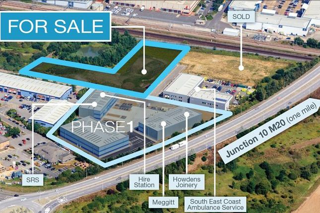 Thumbnail Land for sale in Phase 2 Axiom, Orbital Park, Ashford, Kent