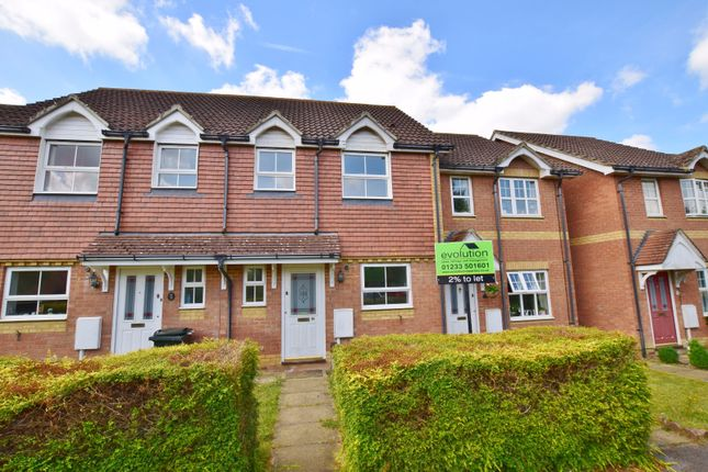 Thumbnail Terraced house to rent in Dove Close, Kingsnorth, Ashford