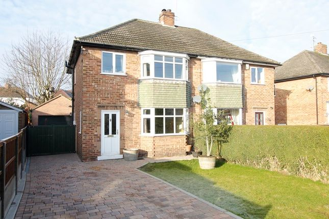 Thumbnail Semi-detached house for sale in Ling Road, Chesterfield, Derbyshire