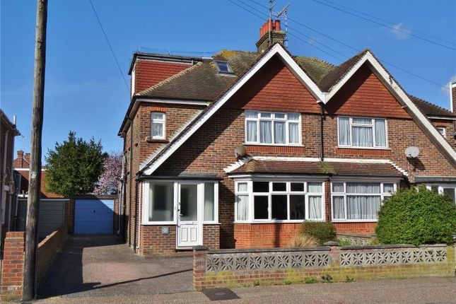 Thumbnail Semi-detached house for sale in Balcombe Avenue, Broadwater, Worthing