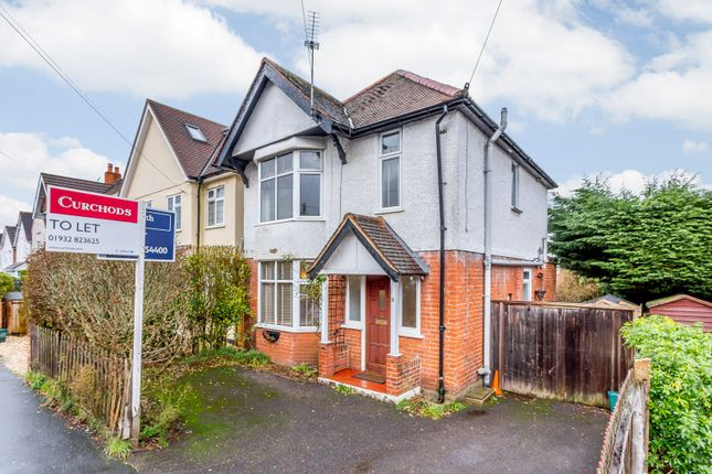 Thumbnail Detached house to rent in Monument Road, Weybridge