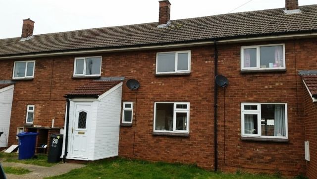Thumbnail Terraced house to rent in Louisberg Road, Hemswell Cliff, Gainsborough