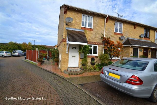 Thumbnail End terrace house for sale in Chamberlain Close, Church Langley, Harlow, Essex