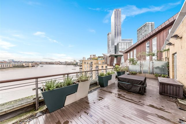 Terrace of Vanguard Building, 18 Westferry Road, Canary Wharf, London E14