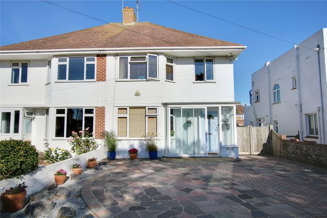 Thumbnail Semi-detached house for sale in Alinora Avenue, Goring-By-Sea, Worthing, West Sussex
