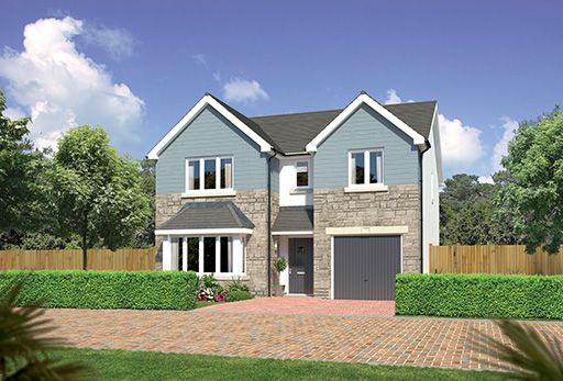 "Thumbnail Detached house for sale in ""Hampsfield"" at East Calder, Livingston"