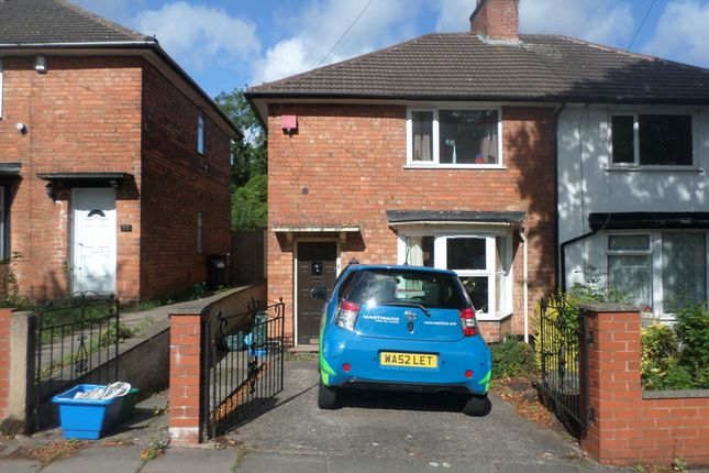Thumbnail Semi-detached house to rent in Lyndworth Road, Birmingham