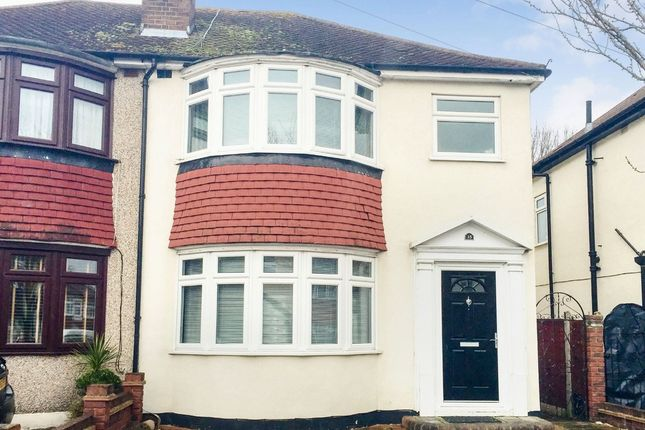 Thumbnail Semi-detached house to rent in Penrith Road, Hainault, Ilford, Essex