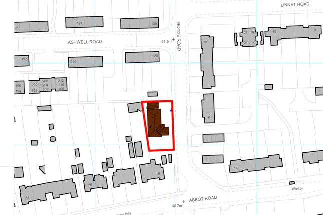 Site Plan of Abbot Road, Bury St. Edmunds IP33
