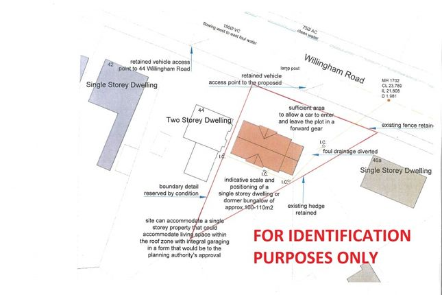Thumbnail Land for sale in Building Plot, Adjoining 44 Willingham Road, Knaith Park, Gainsborough, Lincolnshire