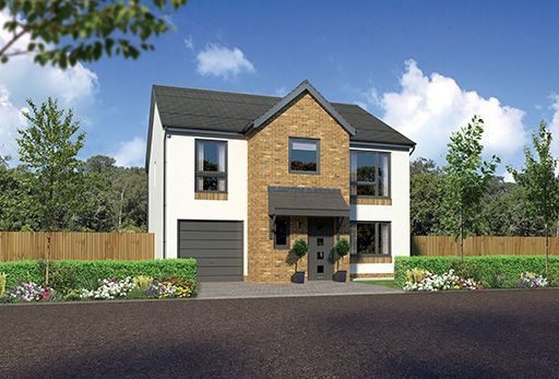 "Thumbnail Detached house for sale in ""Heddon"" at Kingswells, Aberdeen"