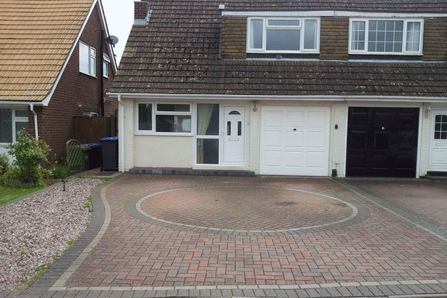 Thumbnail Semi-detached house to rent in 3 Bedroom Unfurnished Family Home, Hillside, Rugby