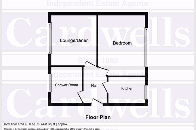 Floor Plan of Lavenham Close, Bury BL9