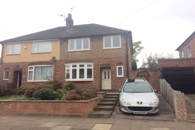 Thumbnail 3 bed semi-detached house to rent in Dersingham Road, Leicester