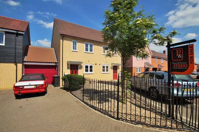 Thumbnail Semi-detached house for sale in Wall Mews, Colchester