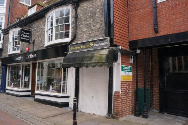 Thumbnail Property to rent in St Margaret's Street, Canterbury