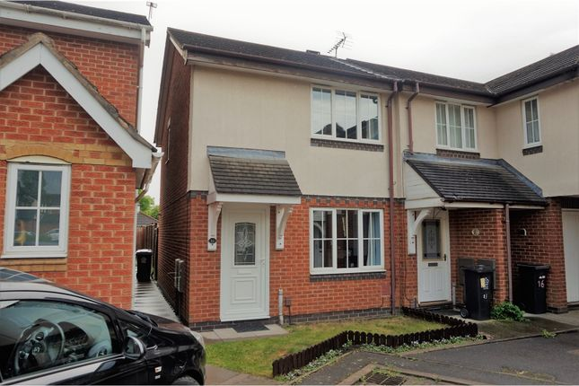 Thumbnail Town house for sale in Firestone Close, Leicester