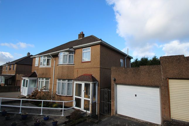 Thumbnail Semi-detached house for sale in Caernarvon Gardens, Plymouth
