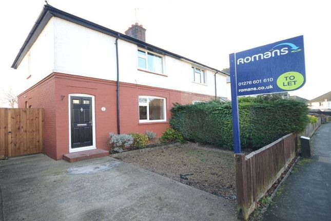 Thumbnail Semi-detached house to rent in Bristow Road, Camberley
