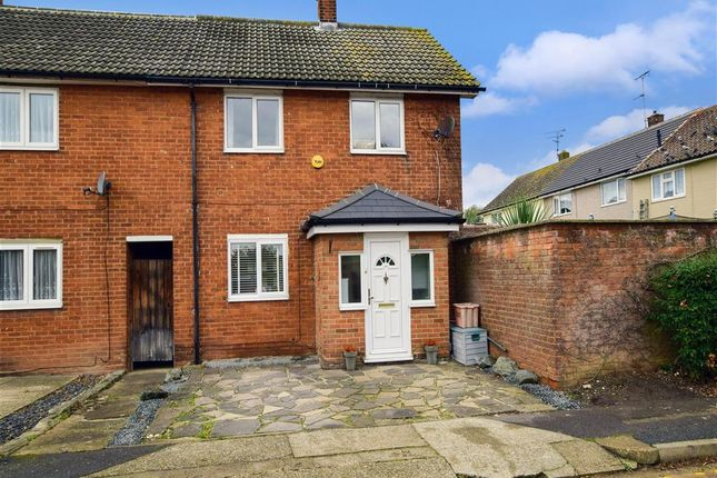 Thumbnail End terrace house for sale in Spenders Close, Basildon, Essex