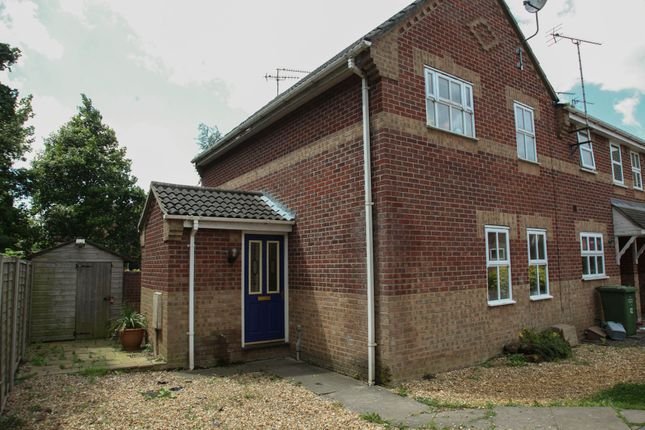 Thumbnail End terrace house for sale in Mapplebeck Close, King's Lynn