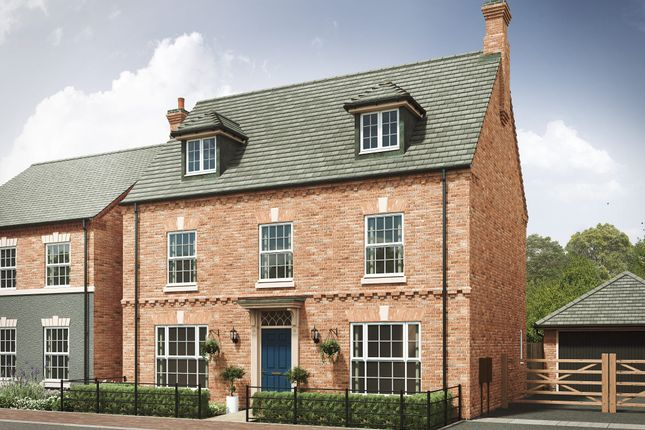 "Thumbnail Detached house for sale in ""The Leicester 4th Edition"" at Long Street Road, Hanslope, Milton Keynes"