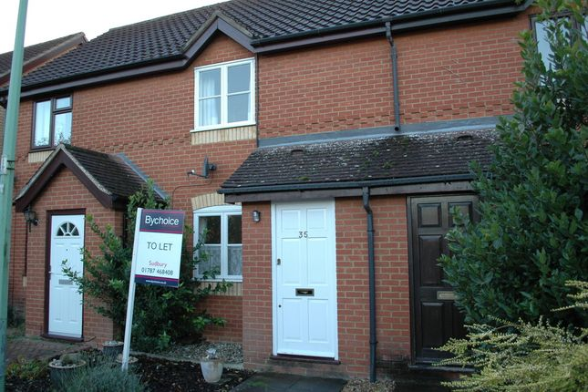 Thumbnail Terraced house to rent in Golding Way, Glemsford, Sudbury