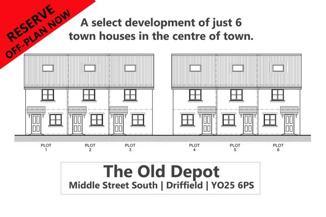 Thumbnail Town house for sale in The Old Depot, Middle Street South, Driffield