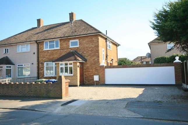 Thumbnail Semi-detached house to rent in Swale Close, Aveley, South Ockendon