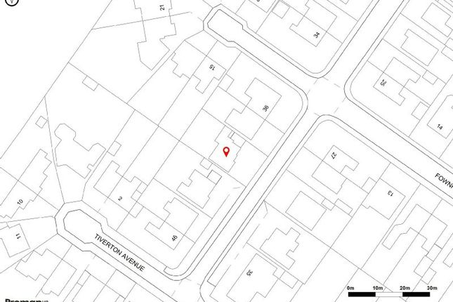 Site Plan of Fownhope Avenue, Sale M33