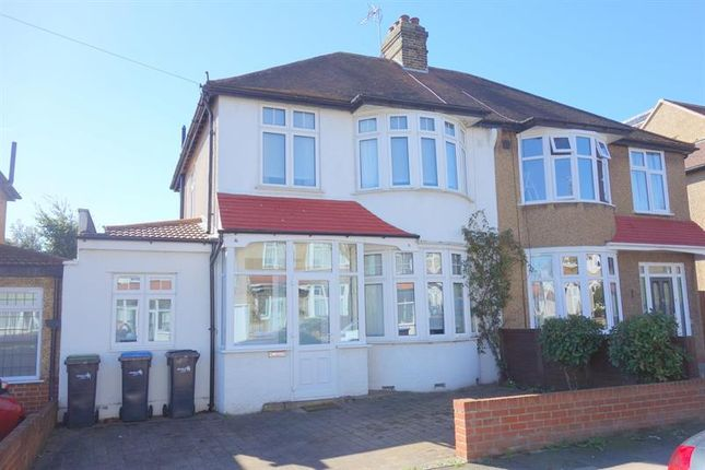 Thumbnail Semi-detached house for sale in Hillside Crescent, Enfield