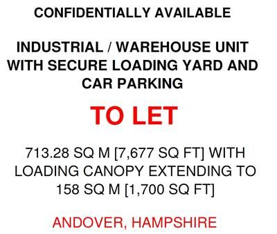 Thumbnail Light industrial to let in Modern Industrial Unit, .., Andover, Hampshire