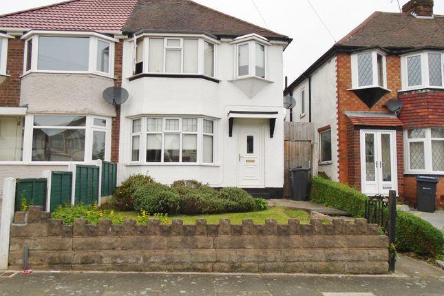 Thumbnail Semi-detached house to rent in Edgemond Avenue, Erdington, Birmingham