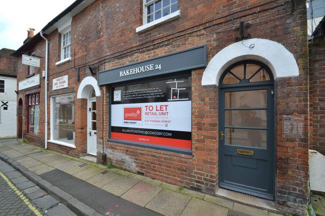 Thumbnail Retail premises to let in 6 St Thomas Street, Winchester