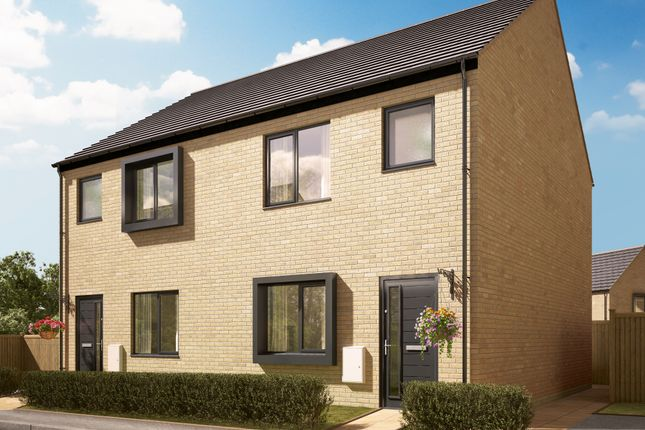 "Thumbnail Semi-detached house for sale in ""The Shelton"" at Quinn Meadows, Oxley Park, Milton Keynes"