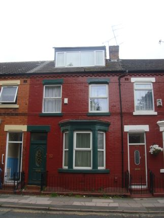 Thumbnail Terraced house to rent in Wellington Road, Wavertree, Wavertree