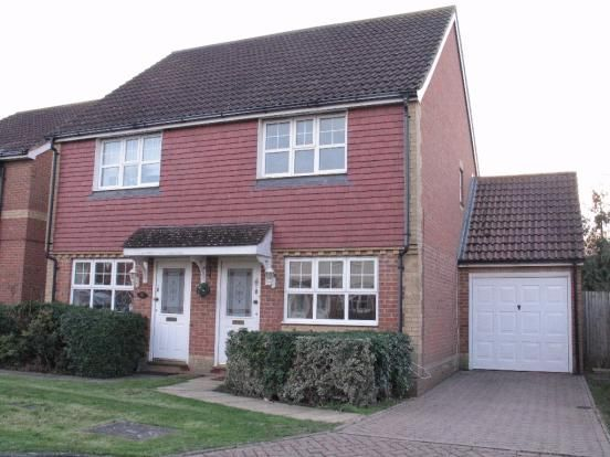Thumbnail Semi-detached house to rent in Dove Close, Kingsnorth, Ashford, Kent