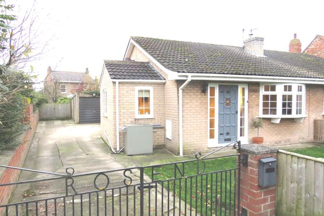 Thumbnail Semi-detached bungalow for sale in Gale Road, Alne, York