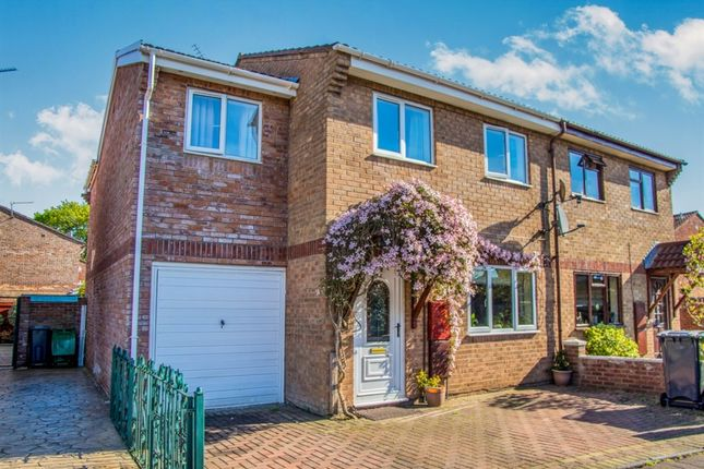 Thumbnail Semi-detached house for sale in Oakmeadow Drive, St. Mellons, Cardiff